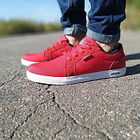 Фирменные красные мужские кроссовки Lacoste текстильные мужские кроссовки красного цвета