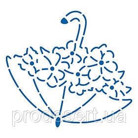 Парасолька з квітами трафарет для пряників 7,5*8,2 см (TR-2)