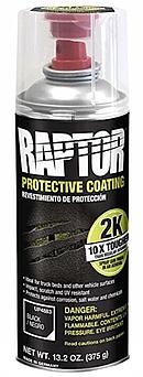 U-POL RAPTOR™ Захисне покриття підвищеної міцності (фарба), 400 мл Аерозоль Чорний