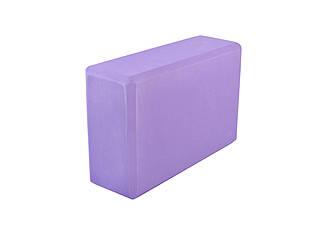 Блок для йоги RAO 23 х 15 х 7.5 см Фиолетовый 000001444, КОД: 961027