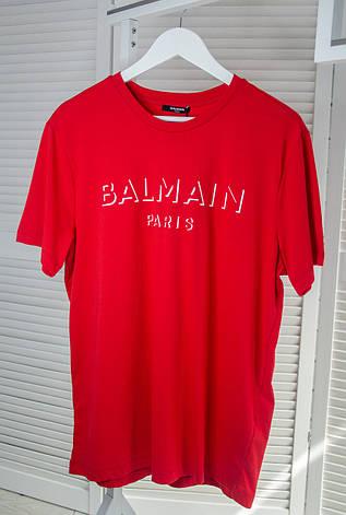 Чоловіча футболка Balmain Червона, з круглим вирізом, короткий рукав, ідеальна посадка, Люкс якість, фото 2