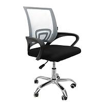Офисное кресло операторское для персонала с каучуковыми колесами, кресло для офиса компьютерное серое
