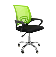 Офисное кресло операторское для персонала с каучуковыми колесами, кресло для офиса компьютерное зеленое