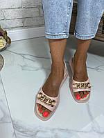 Жіночі шкіряні босоніжки на гумці з натуральної шкіри. Розміри 36-41, фото 1