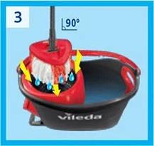 Набір для прибирання швабра+відро Vileda Easy Wring&Clean Turbo, фото 3