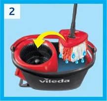 Набір для прибирання швабра+відро Vileda Easy Wring&Clean Turbo, фото 2