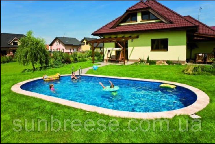 Каркасний басейн з отворами 6х3,2х1,5 м. IBIZA OVAL