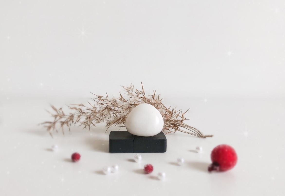 Білий (сніговий) кварц - галтовка (2), 9 м