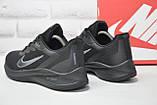 Мужские летние черные кроссовки сетка в стиле Nike Air Zoom running, фото 5