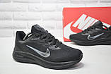 Мужские летние черные кроссовки сетка в стиле Nike Air Zoom running, фото 4