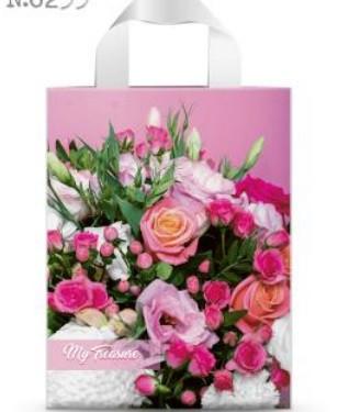 Пакет петля 22*29 Рожевий