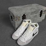 Женские кроссовки Nike Blazer Mid 77 (Белые с чёрным) стильная высокая обувь О20394, фото 8