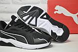 Чорні кросівки сітка в стилі Puma, фото 2