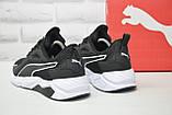 Чорні кросівки сітка в стилі Puma, фото 4