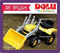 Детский трактор на педалях Dolu 8051 с ковшом, фото 1