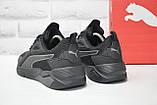 Чорні чоловічі повсякденні кросівки сітка в стилі Puma, фото 4