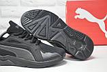 Чорні чоловічі повсякденні кросівки сітка в стилі Puma, фото 5