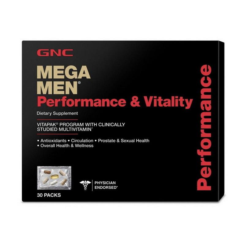 Вітаміни для чоловіків GNC Mega Men Perfomance & Vitality 30 пакетиків