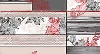 Шпалери вологостійкі мийка Шарм Люссо 161-05 сіро-червоні, фото 1