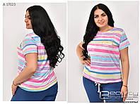 Летняя женская футболка большого размера: 50\52\54\56\58\60