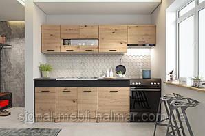 Кухня ALINA 240 дуб артисан/чорний Halmar