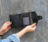 Женский мини кошелек клатч подкова под рептилию, маленький кошелечек эко кожа с подковой, фото 5