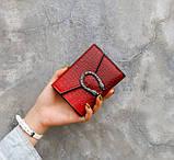 Женский мини кошелек клатч подкова под рептилию, маленький кошелечек эко кожа с подковой, фото 10