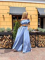 Жіночий костюм топ і широкі брюки, фото 1