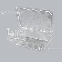 Одноразовый пластиковый контейнер с крышкой УК-47А, PET, прозрачный, 2030 мл, 240 шт/уп