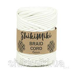 Трикотажний бавовняний шнур Shikimiki Braid Cord 6 мм, колір білий