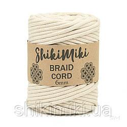 Трикотажний бавовняний шнур Shikimiki Braid Cord 6 мм, колір бежевий