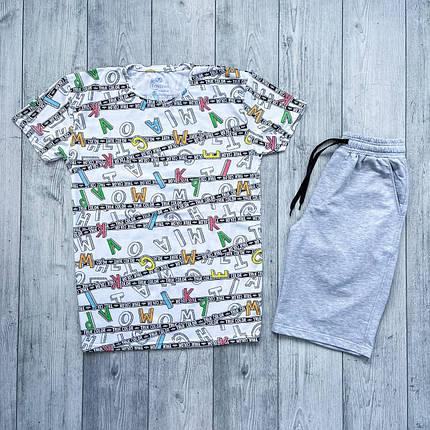 Мужской комплект шорты и футболка, фото 2