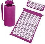 Масажний акупунктурний килимок з подушкою | Масажер для спини і ніг OSPORT | Аплікатор Кузнєцова, фото 2