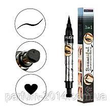 Водостійкий двосторонній лайнер олівець олівець для очей століття тату штамп для арт макіяжу серце