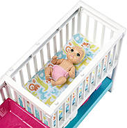Кукла Барби Скиппер няня Уход за малышами Детская комната Barbie Nursery Skipper Babysitters Mattel GFL38, фото 3