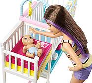 Кукла Барби Скиппер няня Уход за малышами Детская комната Barbie Nursery Skipper Babysitters Mattel GFL38, фото 5