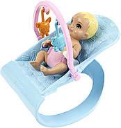 Кукла Барби Скиппер няня Уход за малышами Детская комната Barbie Nursery Skipper Babysitters Mattel GFL38, фото 7