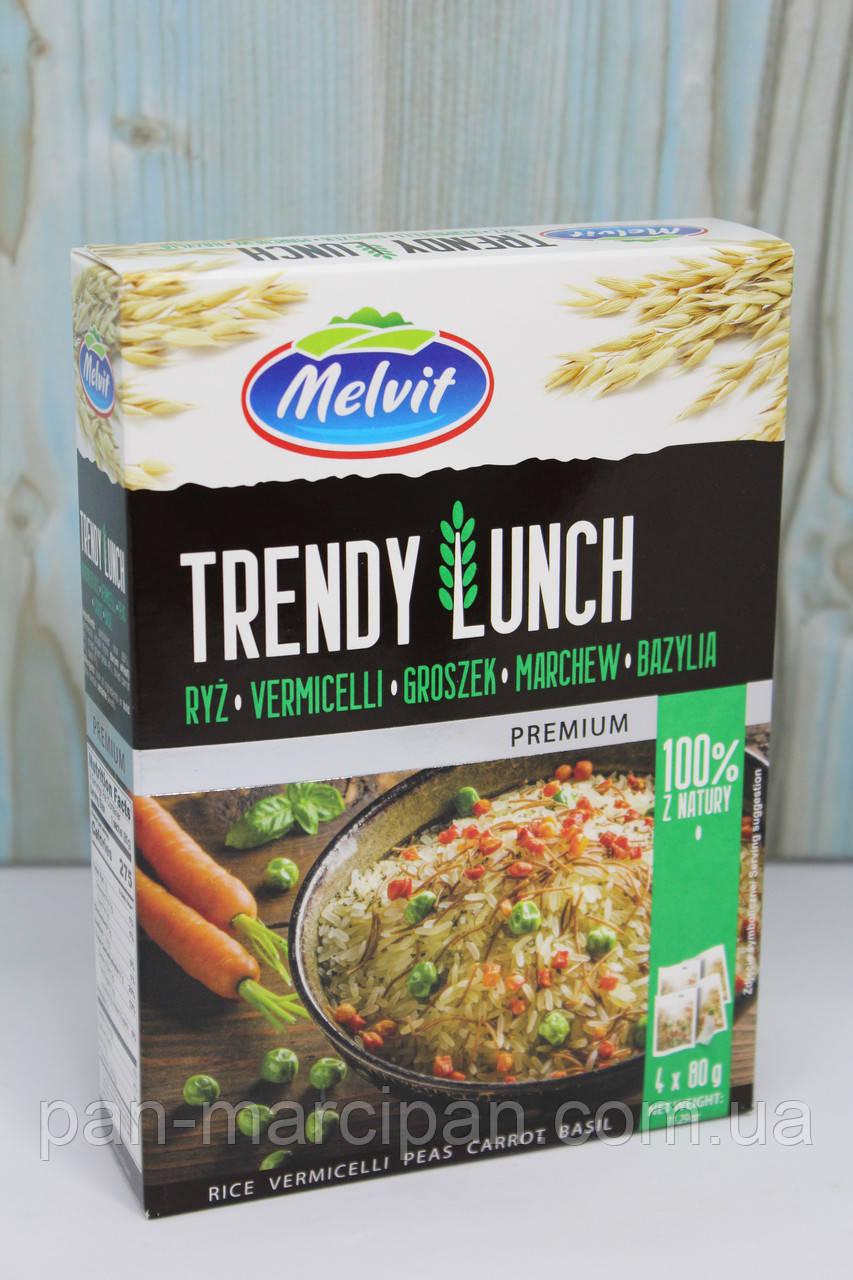 Суміш Melvit Trendy Lunch ryz,vermicelli,groszek 320g