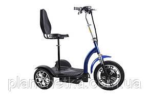 Електросамокат сидіння (сидіння - спинка, передній амортизатор) (синій) T06-3 48v500W 12AH - SM