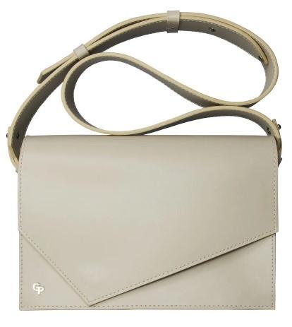 Женская сумка Grande Pelle из натуральной кожи, небольшая сумка кросс-боди среднего размера, бежевый цвет