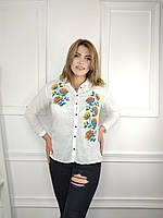 """Сорочка жіноча молодіжна, з вишивкою розміри 48-56 (2цв) """"FIESTA"""" купити недорого від прямого постачальника"""