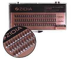 Вії накладні пучкові Полумя Zidia Cluster Lashes Flame Series C 0.10 (3 лєнти, розмір 10 мм)