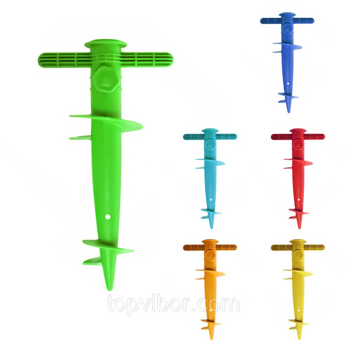 Бур для пляжного зонта Stenson Jo-1273 30см (Зеленый), бур ручной для пляжного зонта , для парасольки (VT)