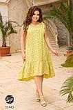 Сукня з квітковим принтом з 100% котону великого розміру 48-50,52-54,56-58,60-62,64-66, фото 5