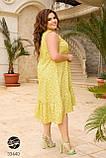 Сукня з квітковим принтом з 100% котону великого розміру 48-50,52-54,56-58,60-62,64-66, фото 2