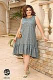 Сукня з квітковим принтом з 100% котону великого розміру 48-50,52-54,56-58,60-62,64-66, фото 9
