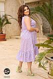 Сукня з квітковим принтом з 100% котону великого розміру 48-50,52-54,56-58,60-62,64-66, фото 3