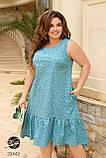 Сукня з квітковим принтом з 100% котону великого розміру 48-50,52-54,56-58,60-62,64-66, фото 6