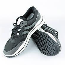 Кросівки чоловічі демісезонні Artin N02, Чорні із сірим