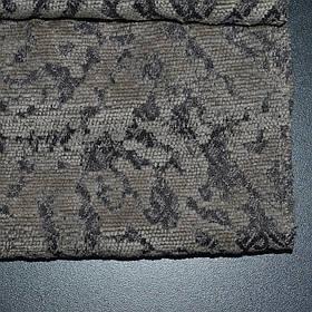 Мебельная ткань шенилл Бламо (Blammo) с классическим узором серого цвета